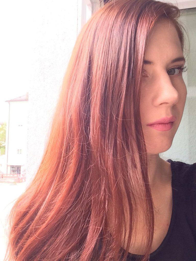 Mein Haar nach der Behandlung mit Wella SP Volumize