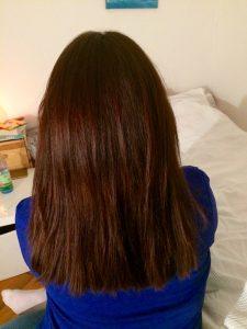 Haarpflegeplan - Ergebnis nach zwei Wochen