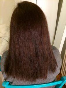 Haarpflegeplan - Ergebnis vor Beginn